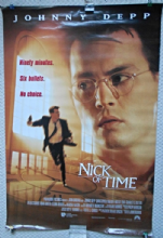 Nick Of Time, Original Movie Poster, Johnny Depp, Christopher Walken, '95